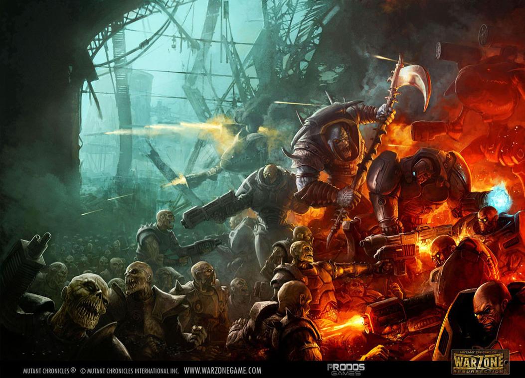 warzone resurrection - cover art by Perun-Tworek