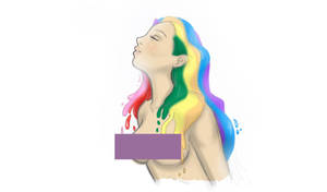 Rainbow Haired Beauty by Kitsunie
