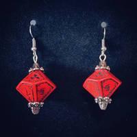 Bio hazard D10 earrings