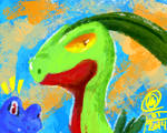 Mystery Dungeon's Grovyle