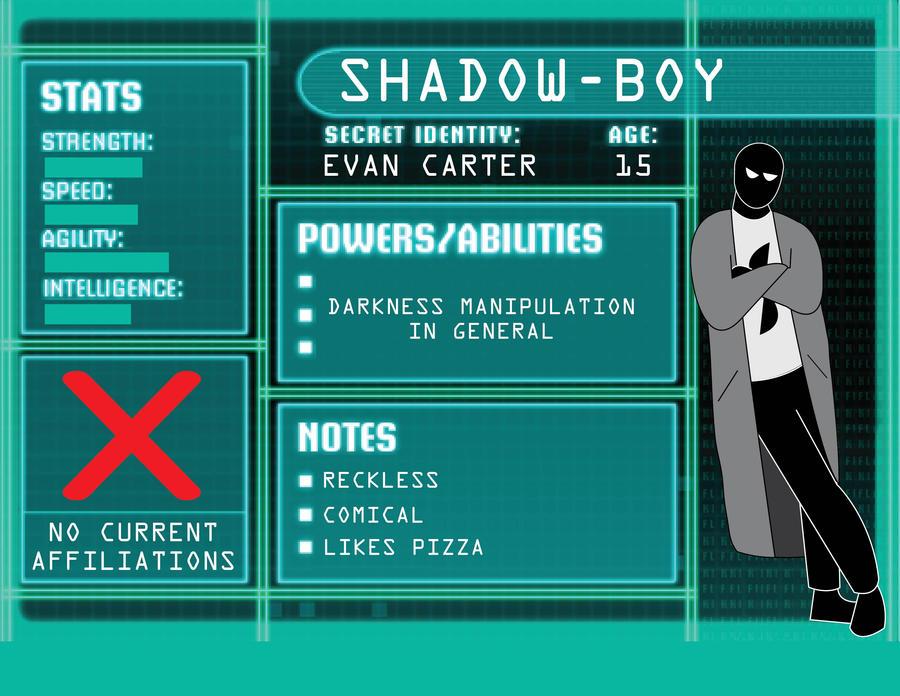 OC BIO ShadowBoy by BenjaminHopkins on DeviantArtYoung Justice Season 3 Character Bios