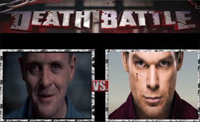 Hannibal Lecter vs. Dexter Morgan by BenjaminHopkins
