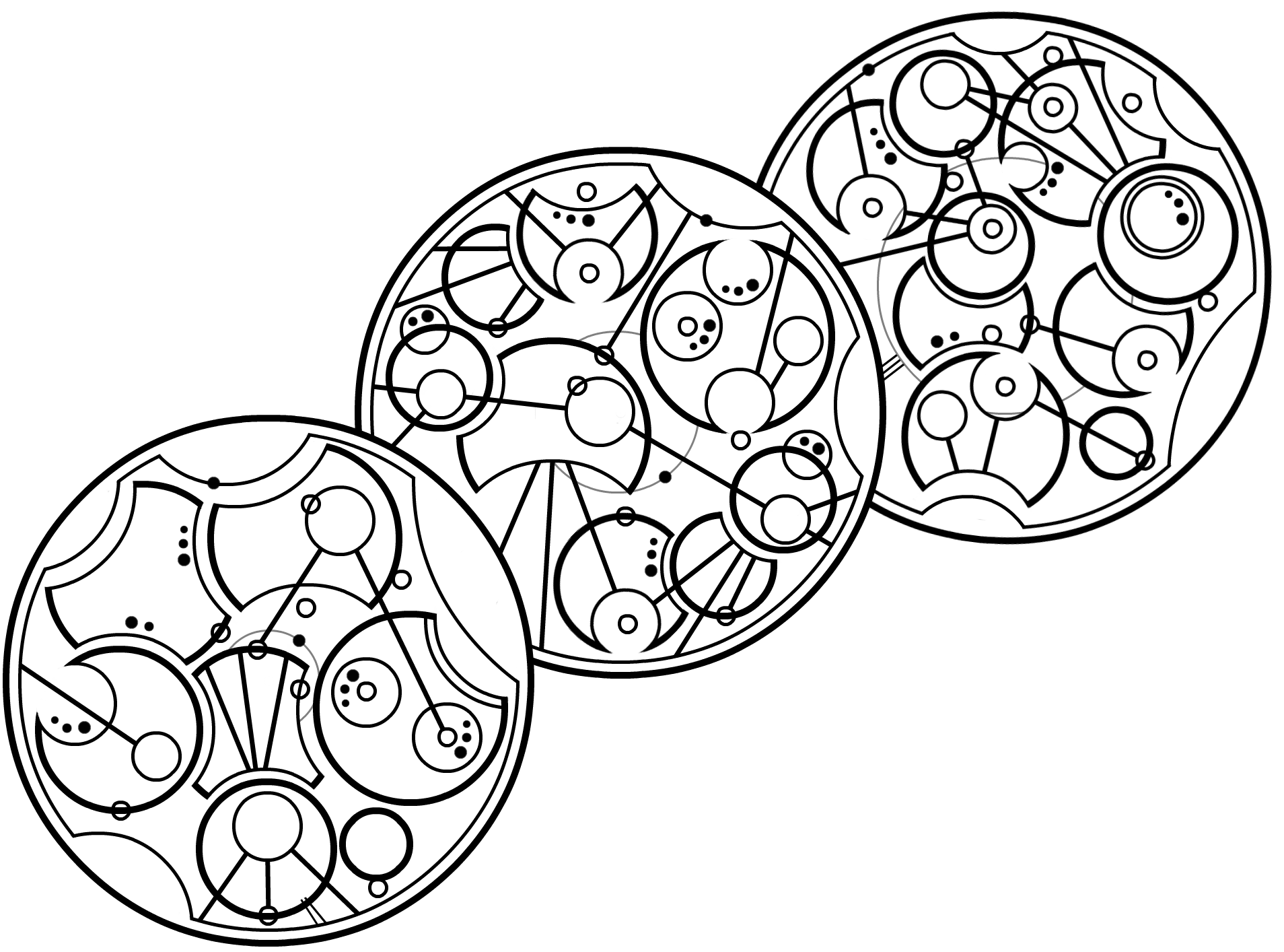 Gallifreyan 009a - WIP, Teapot, Lines 1-3 (adjust) by ThorUF72