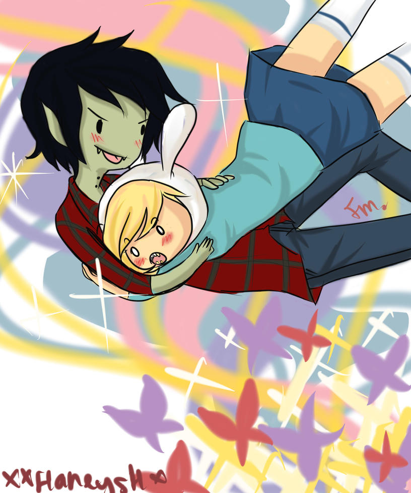 marshall lee and fionna by XxHaneyshxX