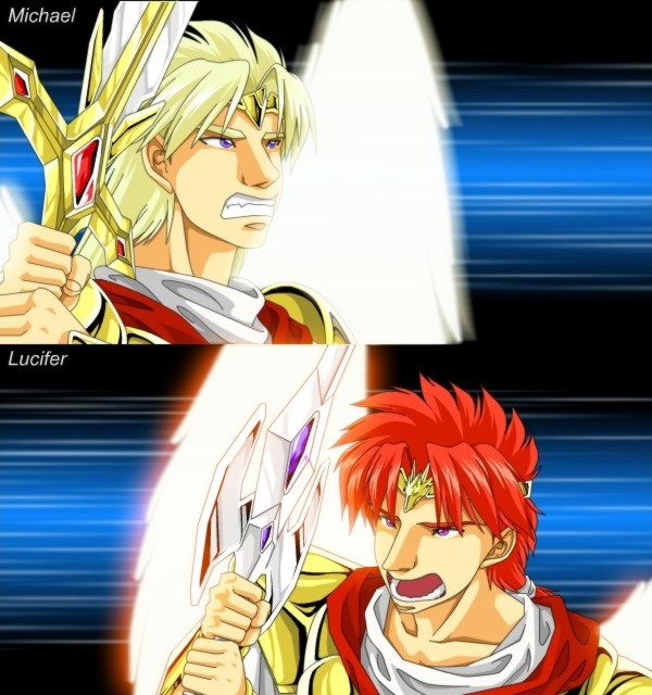 Michael Vs Lucifer By Lizardseraphim On DeviantArt