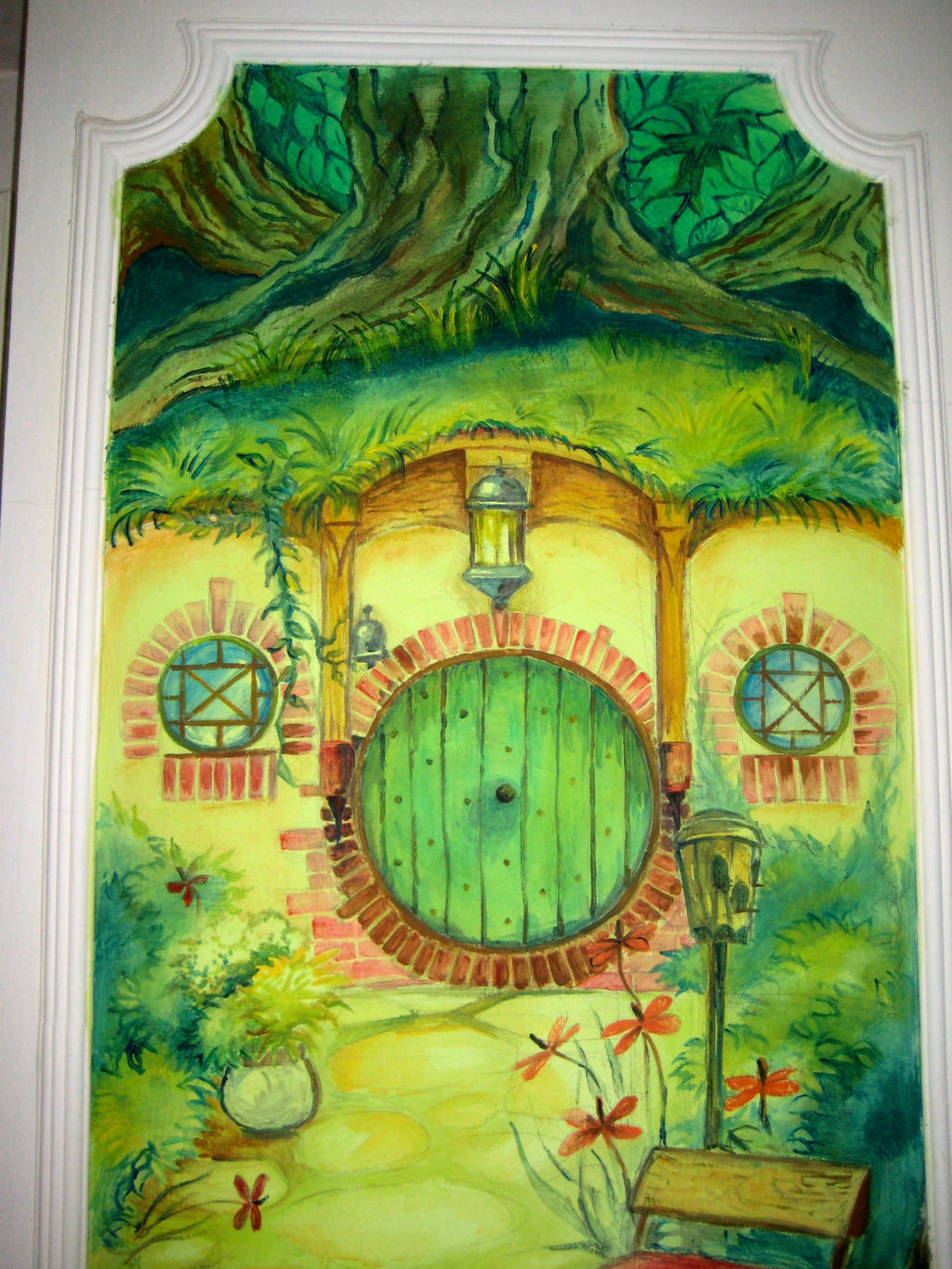 ... The Hobbit - wall painting green door by Miletysant & The Hobbit - wall painting green door by Miletysant on DeviantArt