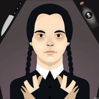 Wednesday Addams by erikimai
