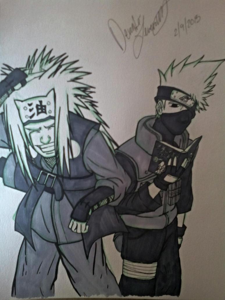 Jiraiya and Kakashi by TheForgottenGTG