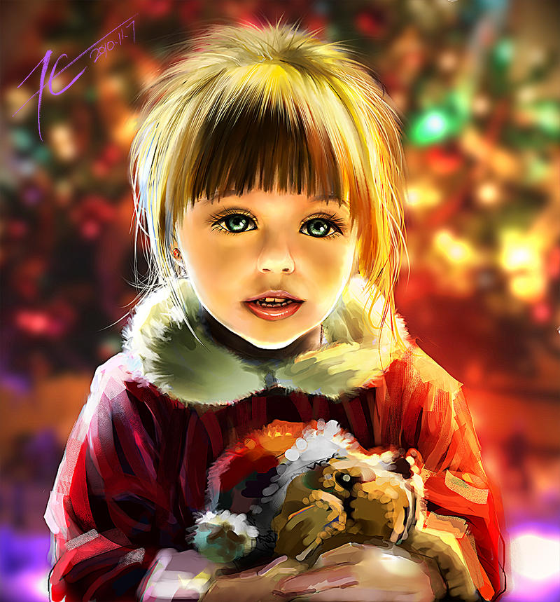 Small size  Christmas child by xck