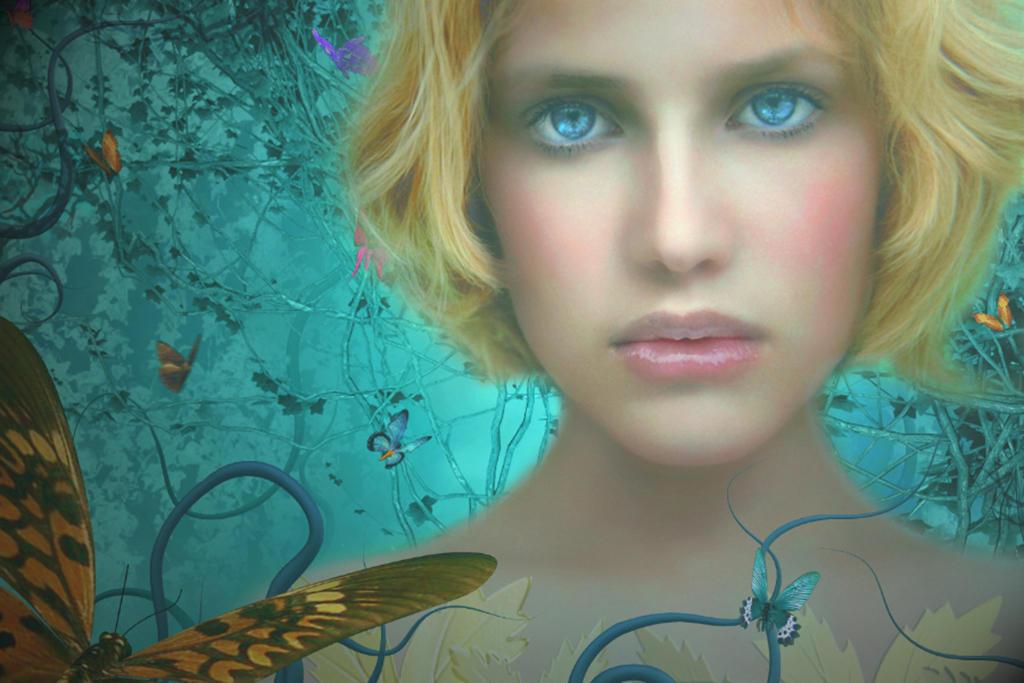 Blue Butterflies by Beholdentolove