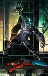Marvel Cover Colors Sample of Black Panther