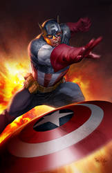 Captain America Pin Up