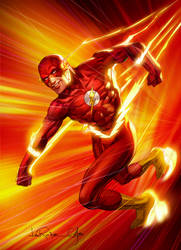 The Flash Pin Up