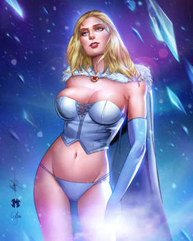 Colors of Emma Frost Pin Up