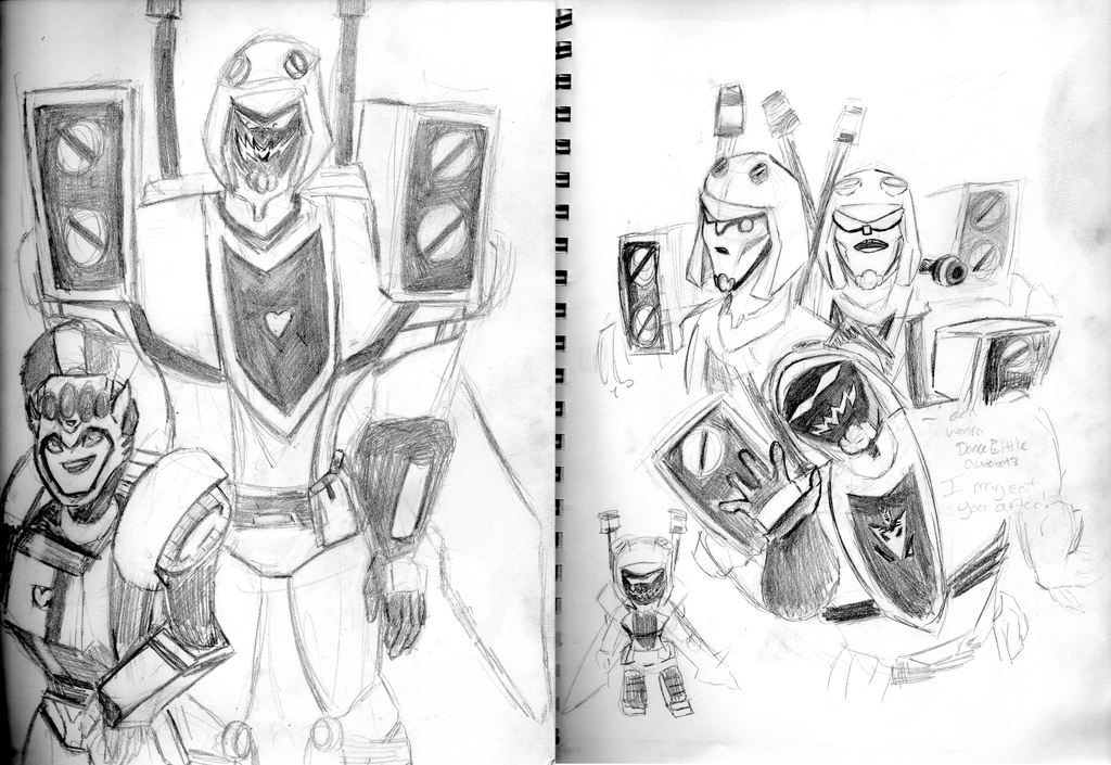 Blitzwing sketches by xoes