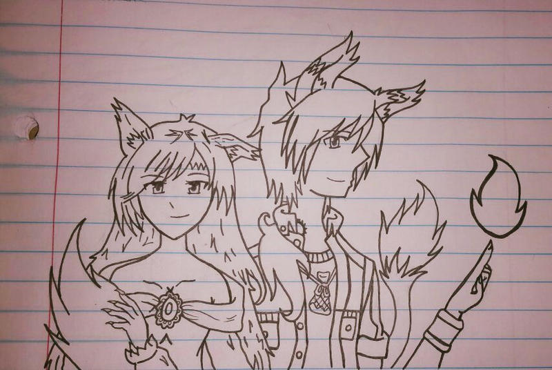 Imaizumi kagerou and Leon Kusanagi  by camposleonardo059