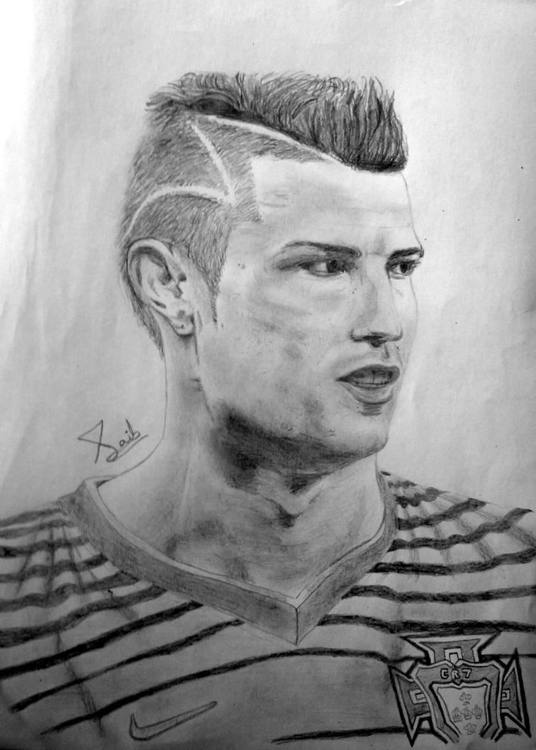 Cristiano ronaldo sketch by saibirfan