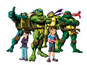 My nephews with the Ninja turtles