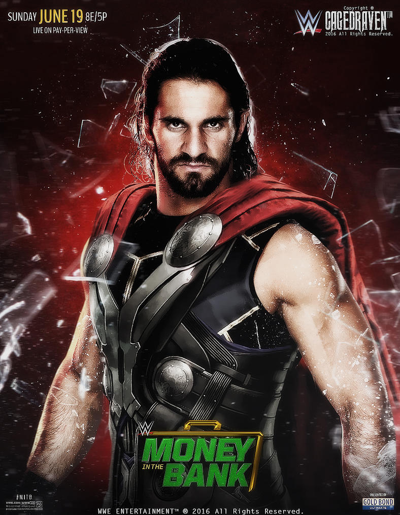 Money In The Bank 2016 poster #2 by Cag3dRav3n