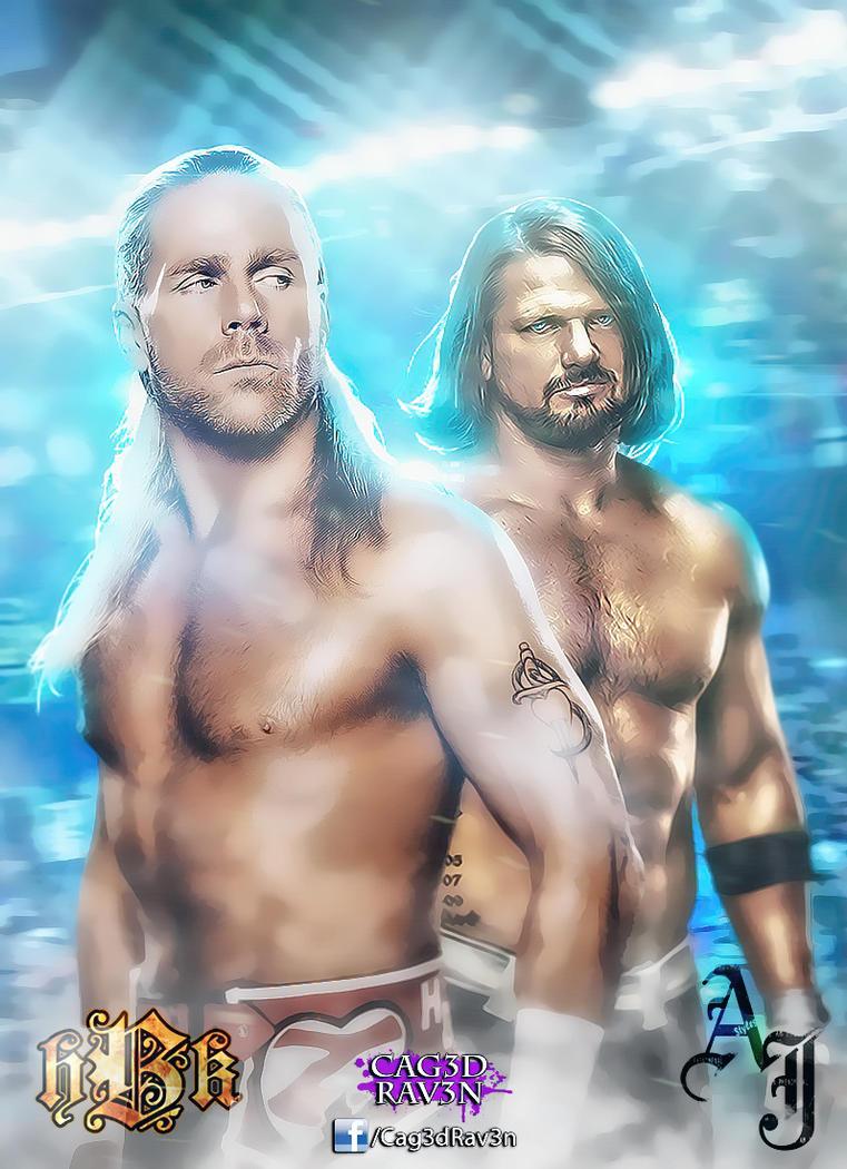Shawn Michael's vs. AJ Styles by Cag3dRav3n