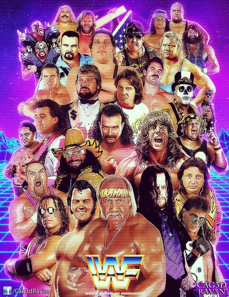 80s WWF by Cag3dRav3n