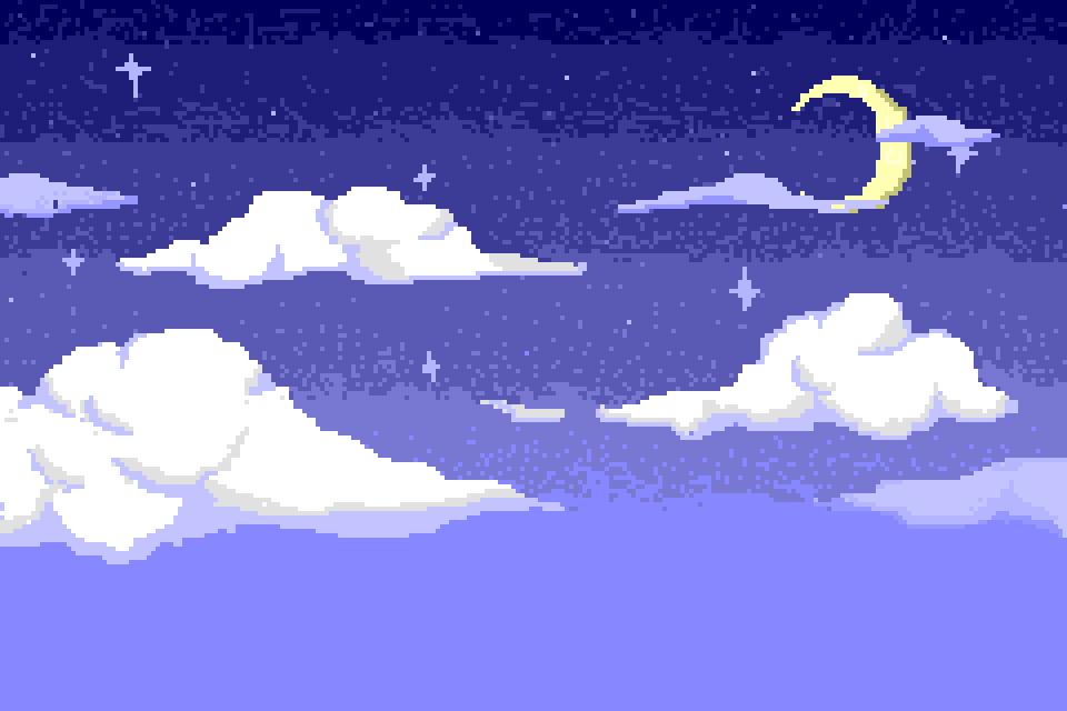 Night Sky Pixel Art by zlzhang
