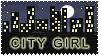 City Girl Stamp by StampsLikeCrazy