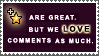 Comments vs. Faves Stamp by StampsLikeCrazy