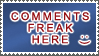 Comments Freak by StampsLikeCrazy