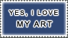I Love My Art Stamp by StampsLikeCrazy