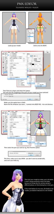 PMX Editor: Transferring Weights Plugin