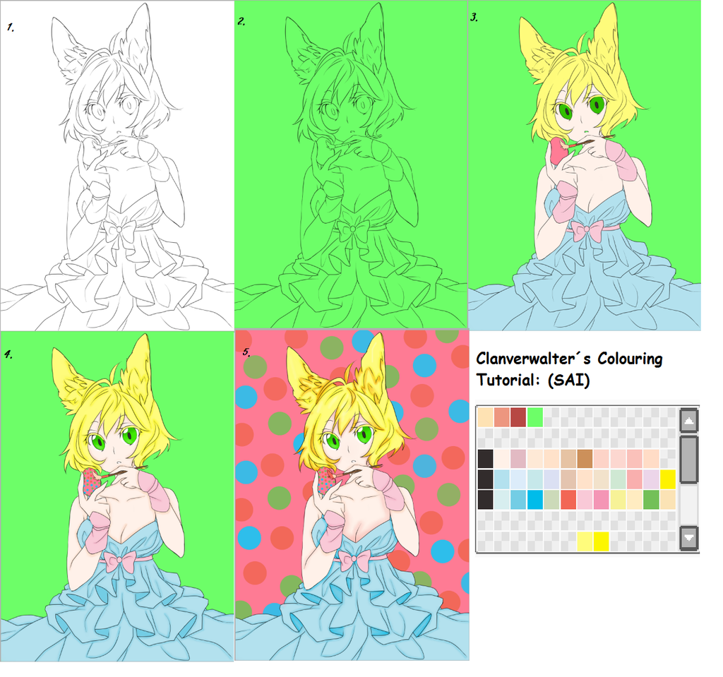 Clanverwalters Colouring Tutorial (SAI) by Clanverwalter