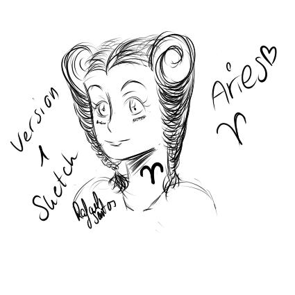 Aries - Sketch by Clanverwalter