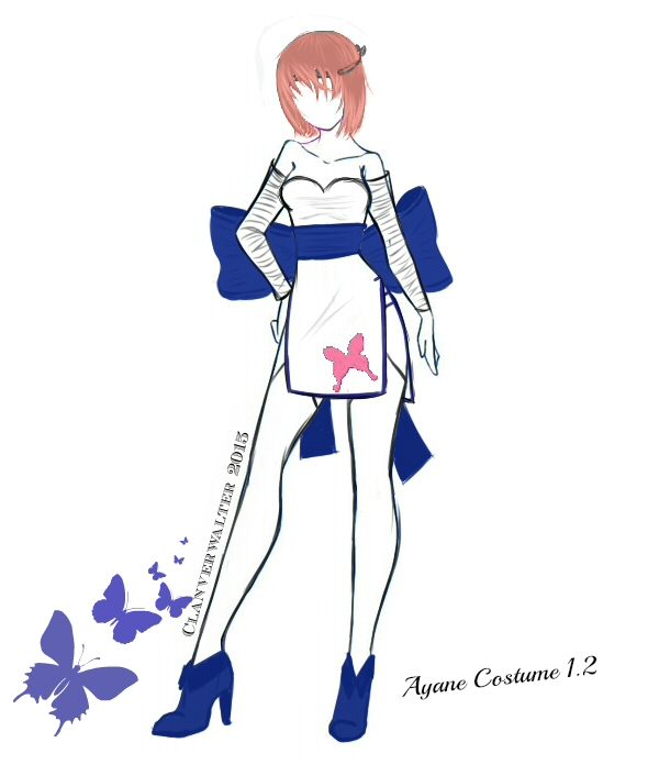DOA Fashion Project - Ayane Costume 2 by Clanverwalter