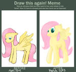 Draw this again - Fluttershy by PlaviLeptir