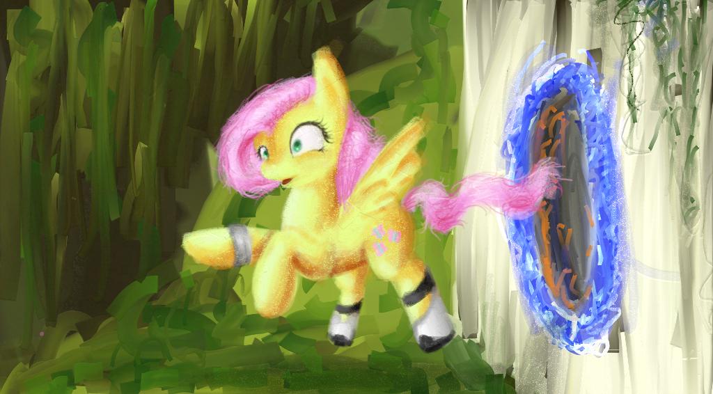 Portal Fluttershy by PlaviLeptir