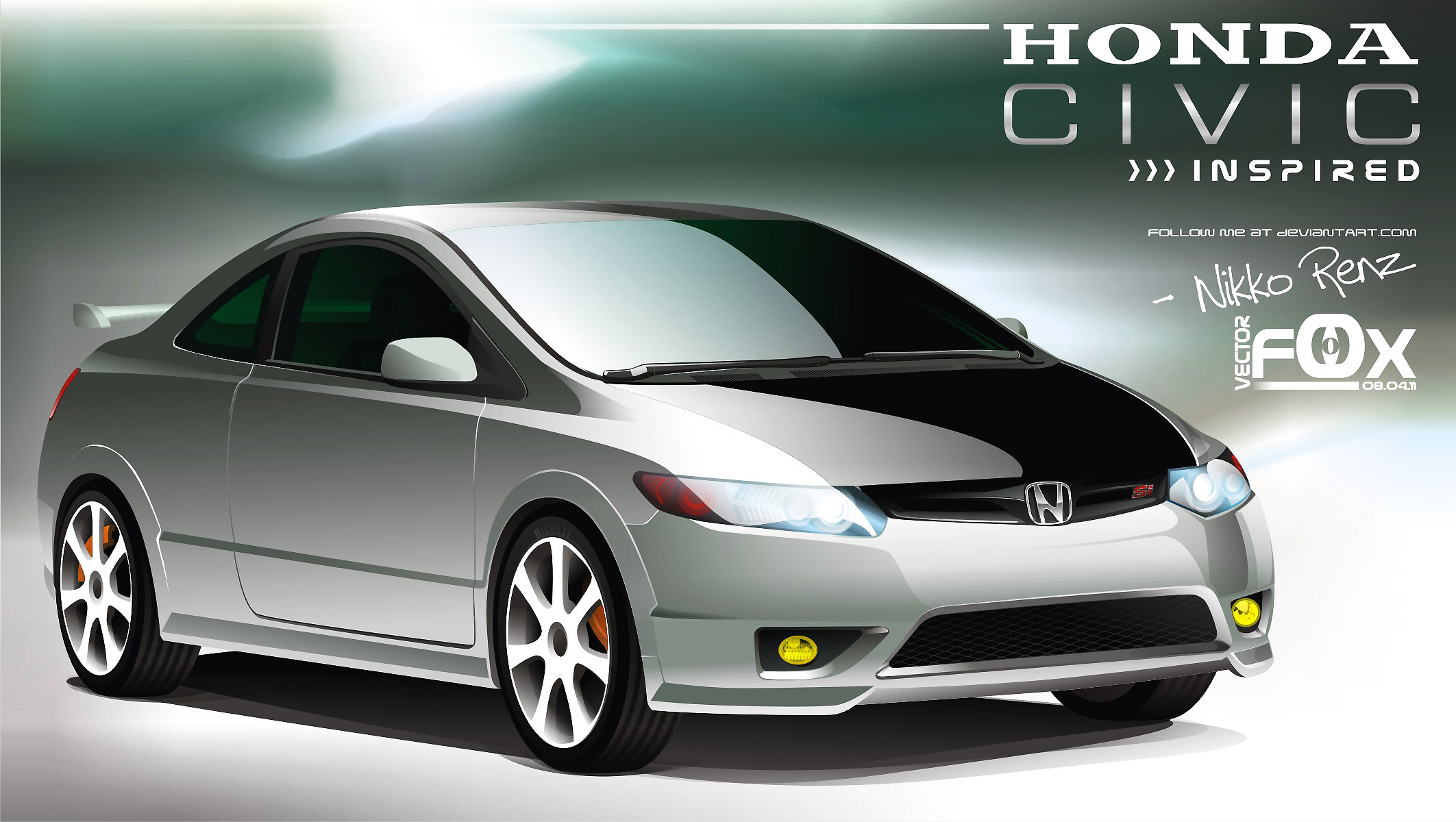 Honda Civic Si Vector By Kyle Xyz On Deviantart