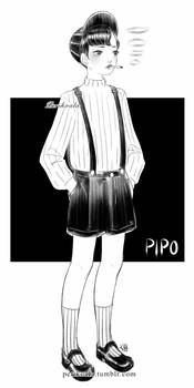 Pipo, smoking boy