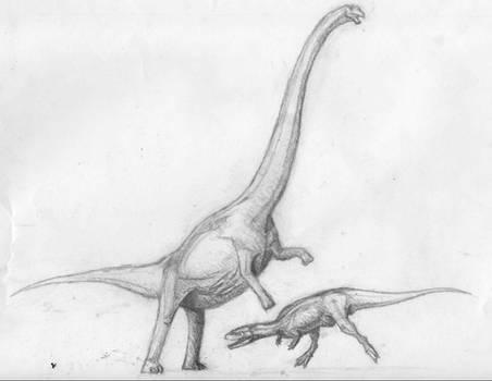 Mamenchisaurus Rears