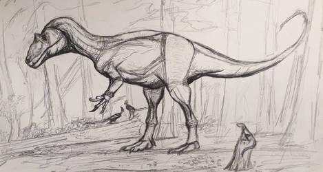 Old Allosaurus Sketch