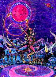 Pink Moon Ritual by Tiduk