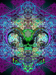 Live art skull by Tiduk