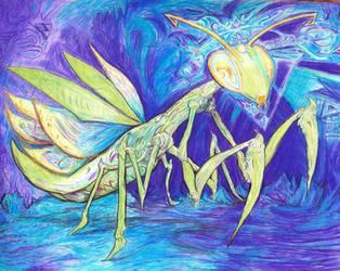 Moibok the Mind Mantis by Tiduk