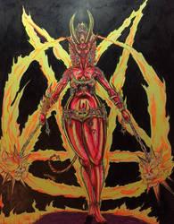 Hellfire Goddess by Tiduk
