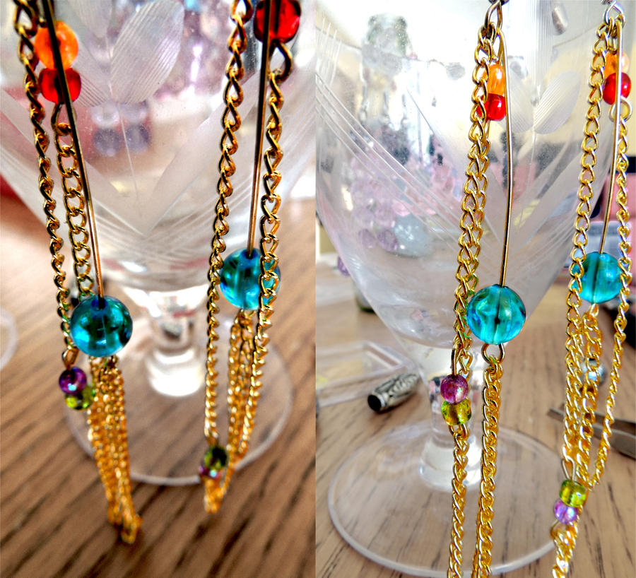 Rainbow Dash Inspired Earrings -For real- by Smilliface