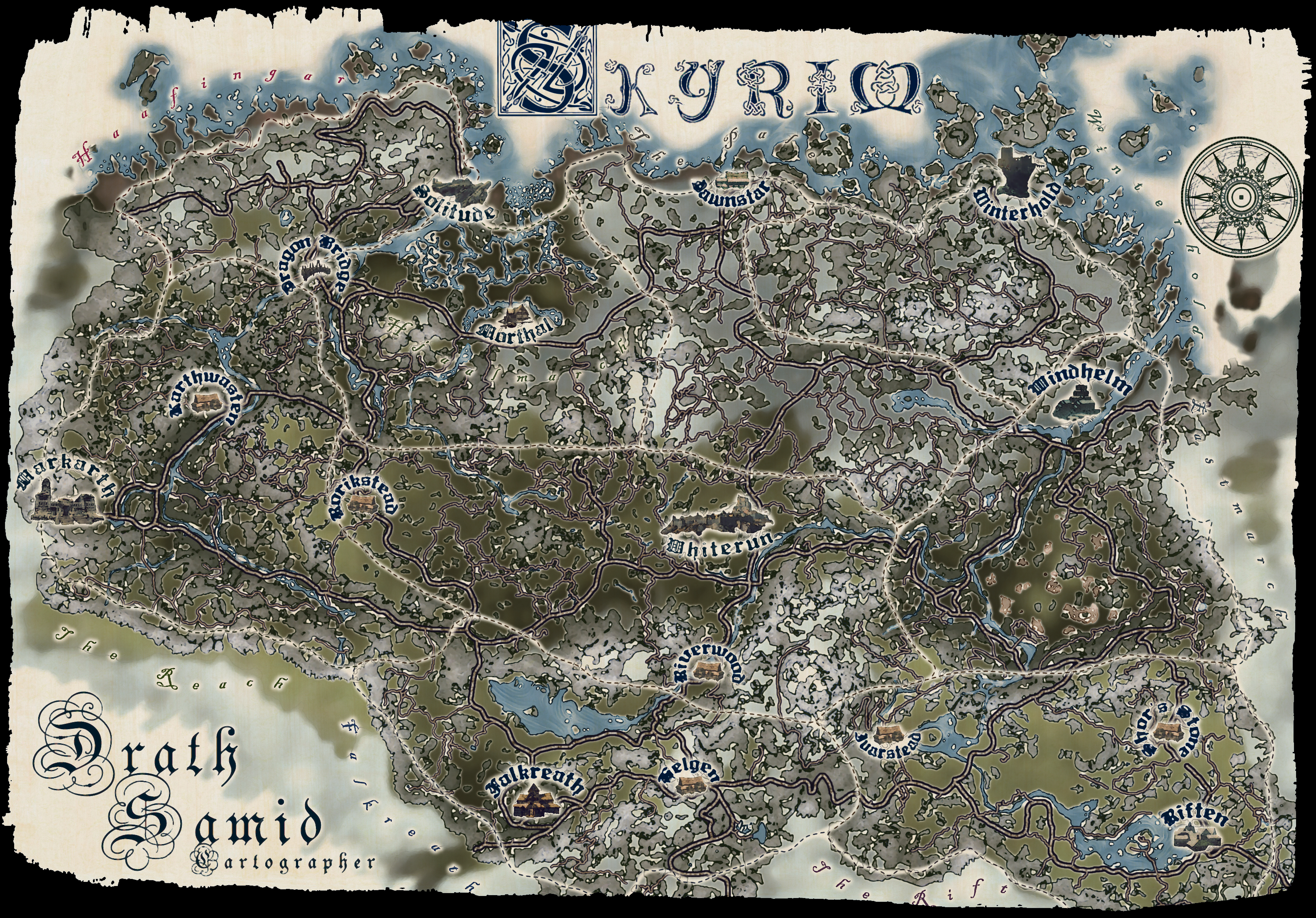 Drath Samid's map of Skyrim. by SamOfSuthSax on DeviantArt on just cause 2 map, elsweyr map, dark souls map, dragonborn map, elder scrolls map, dead island map, battlefield 3 map, knights of the nine map, riften map, l.a. noire map, cyrodiil map, whiterun map, morrowind map, mass effect map, pokemon map, minecraft map, oblivion map, halo 4 map, zelda map,