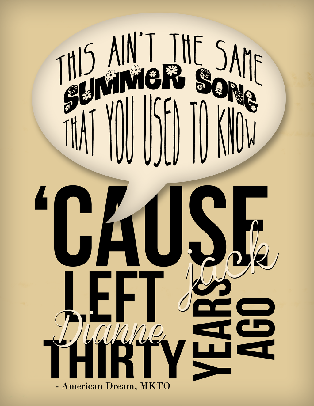 MKTO Typography by ThisBirtchCrazy