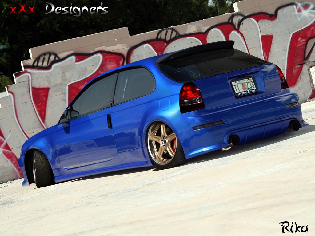 Honda Civic Blue By Rikadesigner On Deviantart