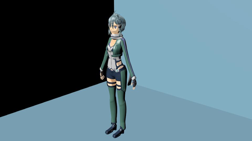 Sinon sword art online 3d render by elemein on deviantart for 3d rendering online