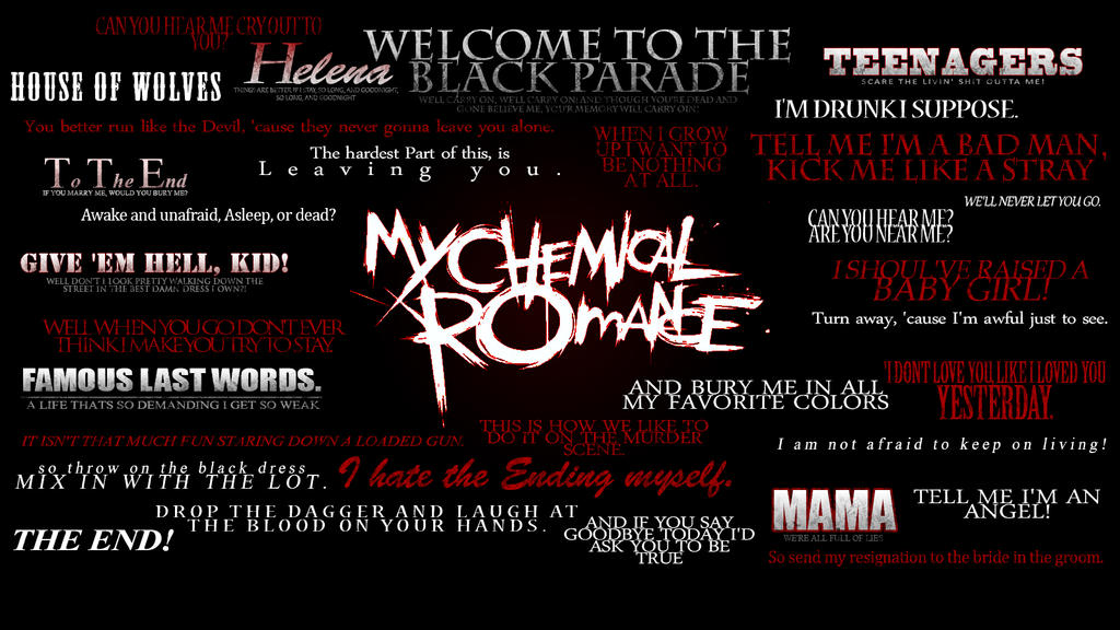 My chemical romance lyrics wallpaper